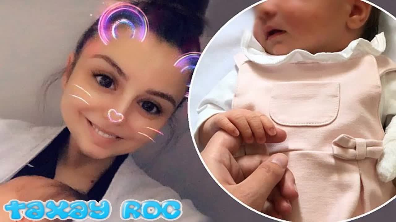 Cher Lloyd cannot stop beaming as she unveils newborn DelilahRae