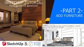 Video Tutorial Sketchup | 2 | Création Chambre Interior 3D - Partie 2 download MP3, 3GP, MP4, WEBM, AVI, FLV Desember 2017