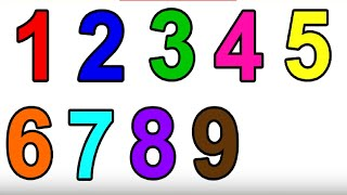 Glitter Number coloring pages Learn Colors Learn numbers for kids | Art-Tube BD ☆