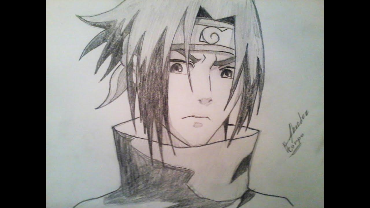 Coma dibujar a Sasuke de Naruto a lapiz  YouTube