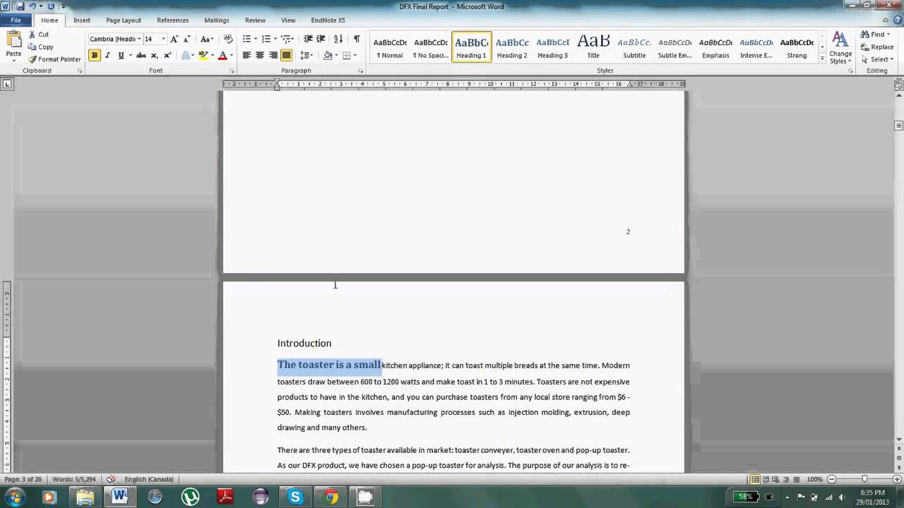 Word 2010 Tutorial: Automatic Table of Contents in Microsoft Word 2010  Please Share