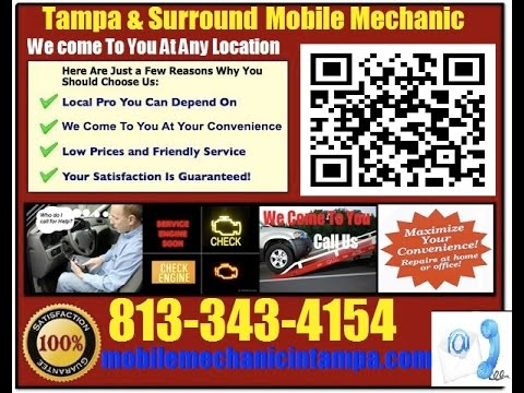 Mobile Mechanic New Port Richey FL 813-343-4154 Auto Car Repair Service