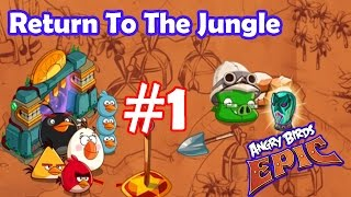 Angry Birds Epic: Gameplay Part-1 (Return To The Jungle ) Event Portal Elite Stone Guard Helm