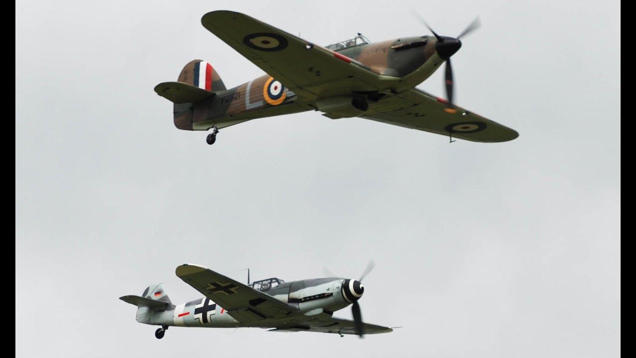 Biggin Hill Festival Of Flight >> Hurricane, Spitfires and ME109 at Biggin Hill 2015 - YouTube