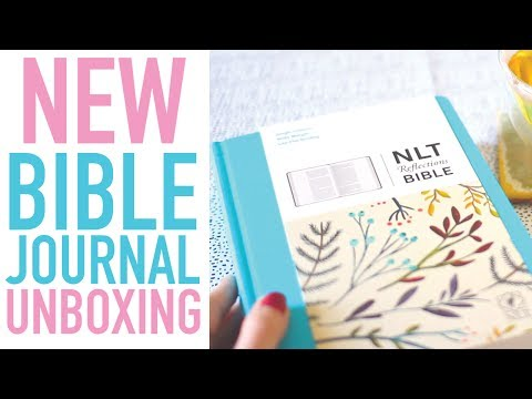 BIBLE JOURNAL UNBOXING | NLT Reflections Bible