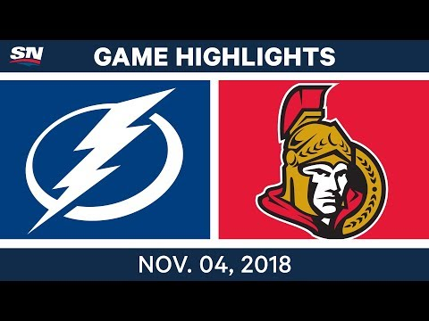 NHL Highlights | Lightning vs. Senators– Nov. 4, 2018