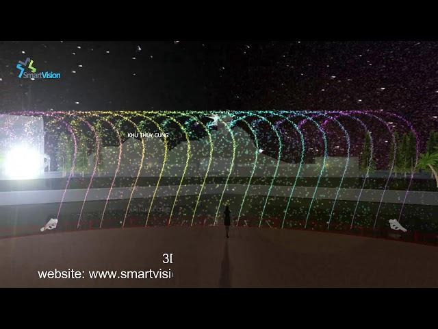 3D Musical dancing fountain design - Thiết kế mô phỏng nhạc nước
