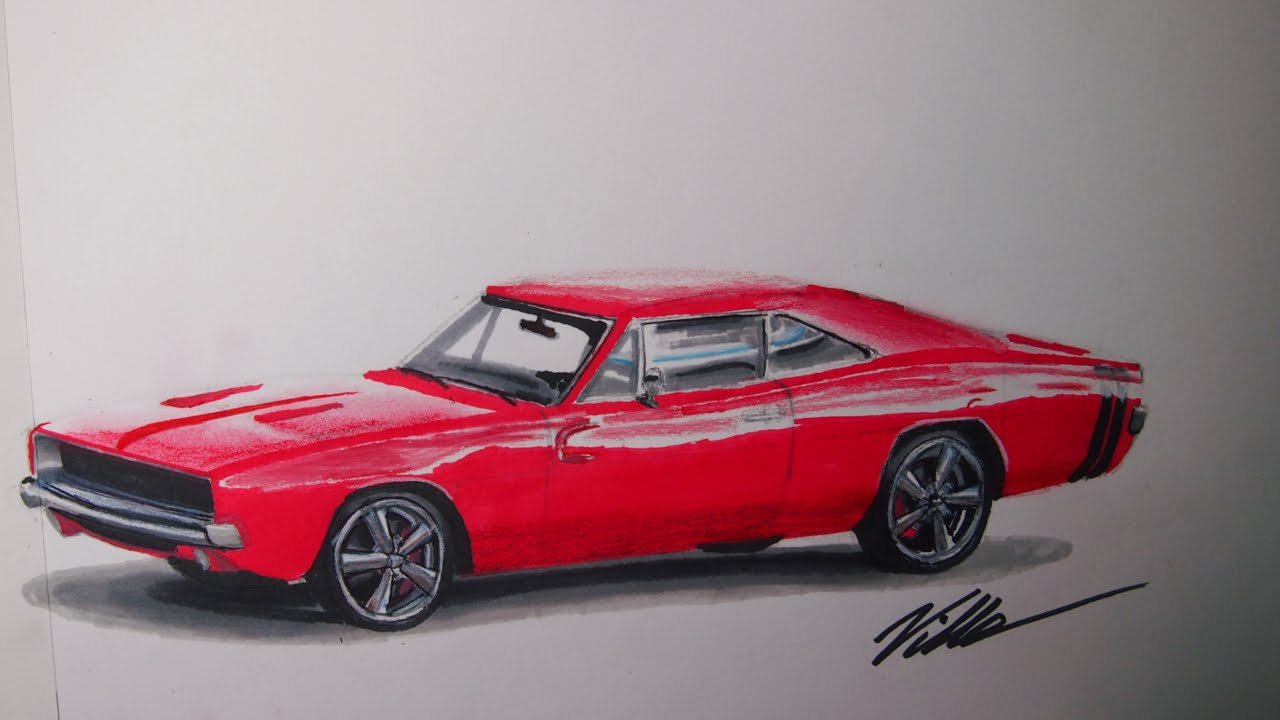 Dodge Charger Speed Drawing Youtube