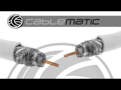 Cable Coaxial Antena Tv Distribuido Por Cablematic Youtube