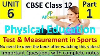 Test & Measurement in Sports   Unit - 7   Physical Education   Complete Notes