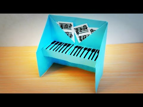 EASY PAPER CRAFTS HOW TO MAKE A PAPER PIANO FOR KIDS- origami #2 - best ideas ever