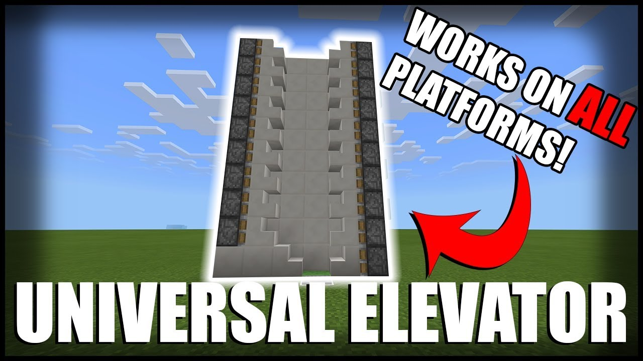 How to make easy minecraft elevator