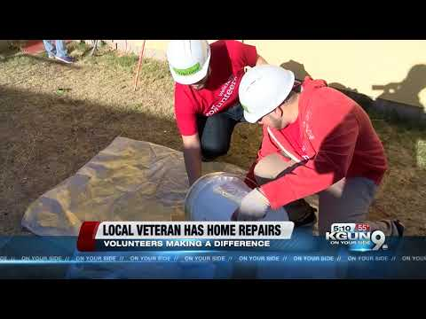 Volunteers with Habitat for Humanity helped a veteran give his home a makeover