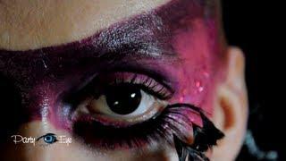 Czarne soczewki kolorowe PartyEye CRAZY / Black Color Contact Lenses