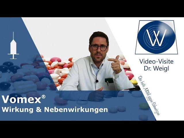 Bei Übelkeit & Erbrechen: Dimenhydrinat (Vomex) - Antiemetikum & Antihistaminikum: Nebenwirkungen