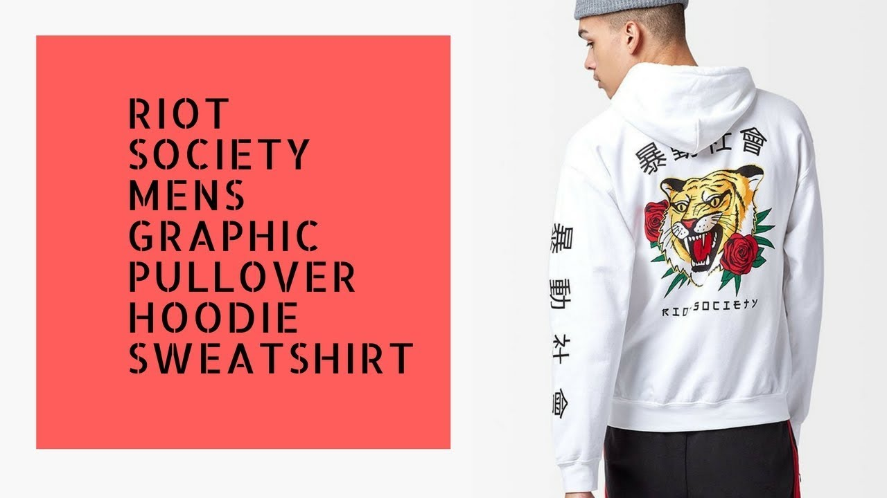 0a68ed46 Riot Society Mens Graphic Pullover Hoodie Sweatshirt - YouTube