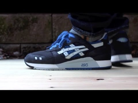 competitive price d2307 60629 Asics Gel Lyte III Black/Blue Review & On Feet