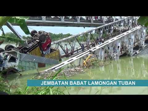 Video Jembatan Babat Widang Lamongan Tuban Putus Ambruk