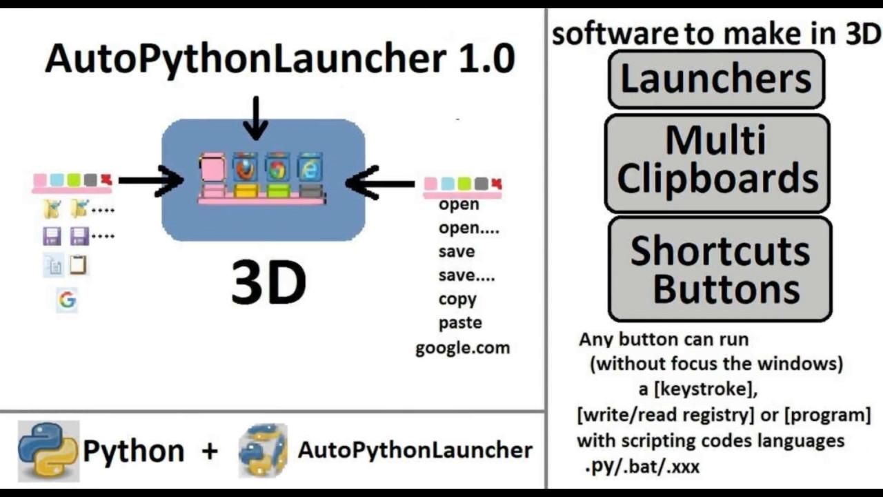 AutoPythonLauncher 1 0 Automation Software Execute Python Scripts
