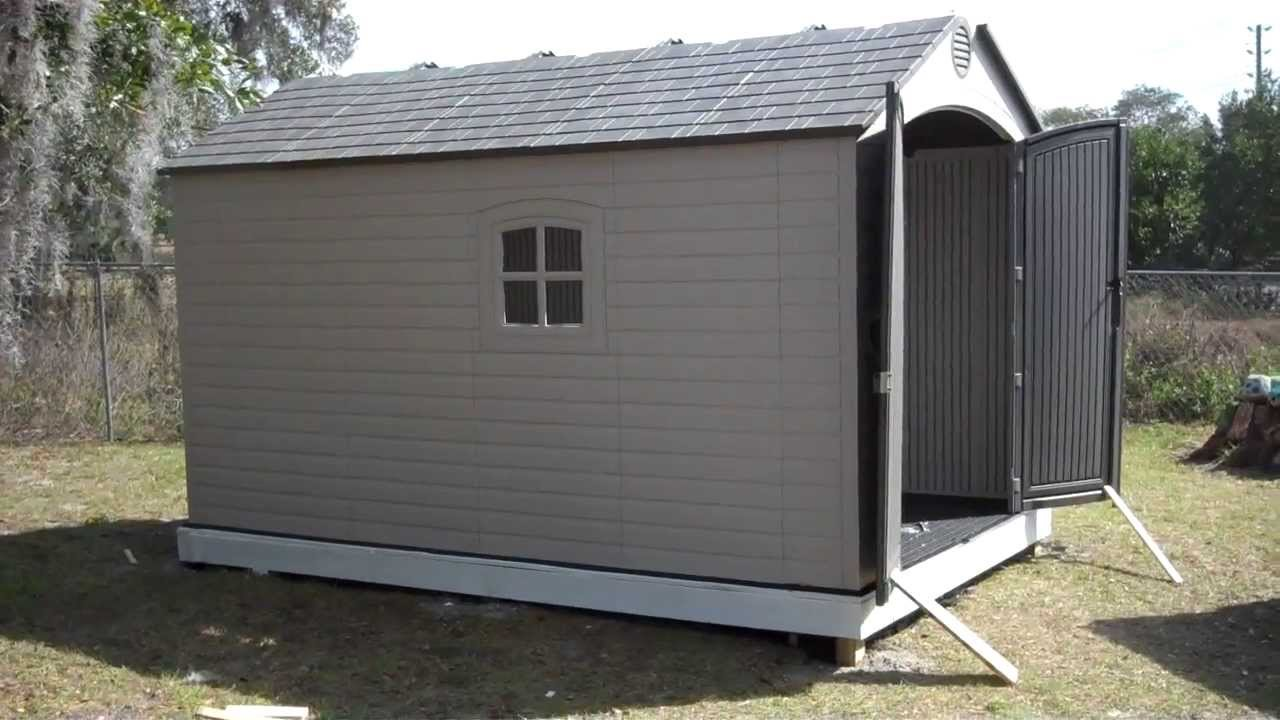 Orlando Handyman Installs Lifetime 8 X 12.5 Outdoor Storage Shed (Model  6402)   YouTube