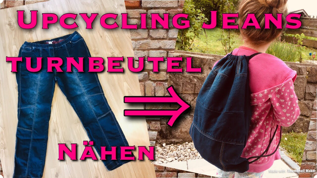jeans rucksack nähen anleitung
