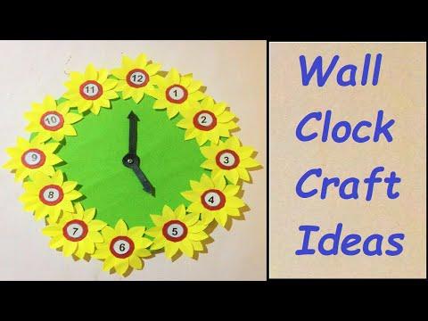 paper wall clock craft ideas for school kids | howtofunda | DIY