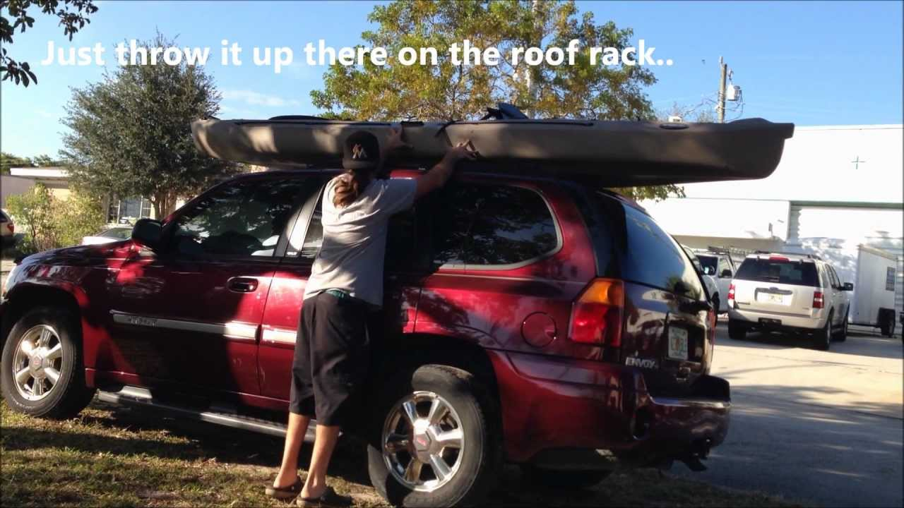 How to load kayak on SUV - YouTube