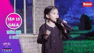 Biệt Tài Tí Hon 2|Tập 15 gala: Giọng ca 8 tuổi hát Sa Mưa Giông ngọt lịm khiến Trấn Thành rụng rời