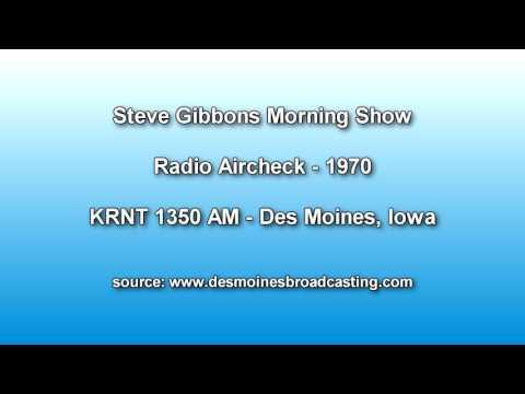 Steve Gibbons Aircheck KRNT Radio 1350 AM - 1970 Des Moines Iowa