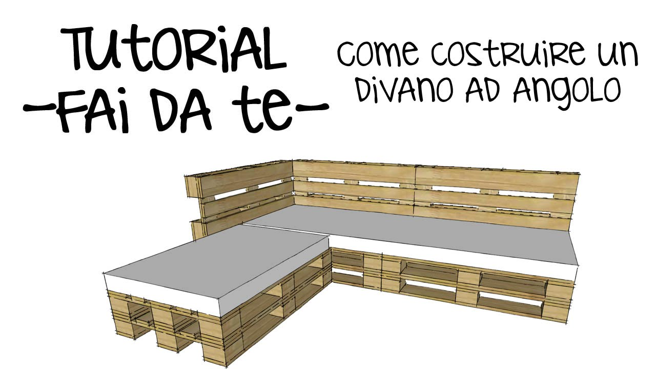 Tutorial divano pallet fai da te come arreda casa e for Panchine fai da te