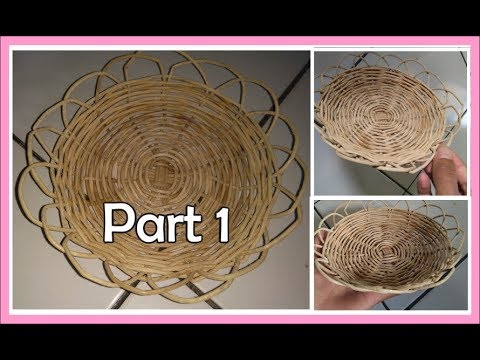 cara membuat piring dari rotan part 1