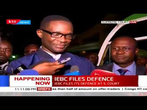 IEBC submits their response to Raila Odinga's presidential petition