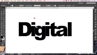 كيفية إنشاء الخطوط العريضة في Adobe Illustrator (تحويل النص إلى الأشكال)