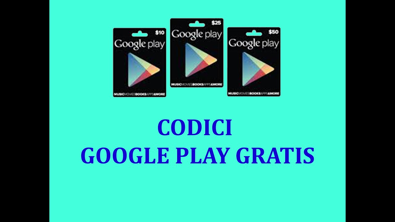 Free Google Play Gift Cards Youtube