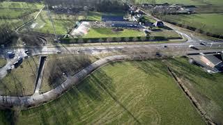 Roelofs impressie van verkeersonderzoek vanuit de lucht Rottevalle