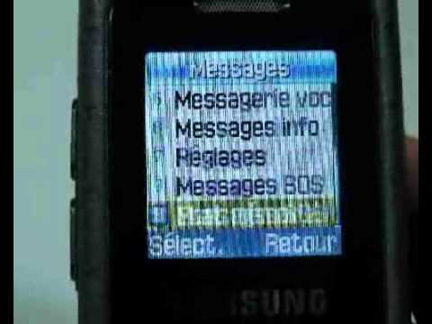 Samsung SGH-M110 - Démonstration, prise en main et test