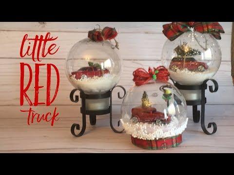 DIY Little Red Truck Ornament