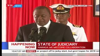 President Uhuru admits the executive has had opinion differences with judiciary