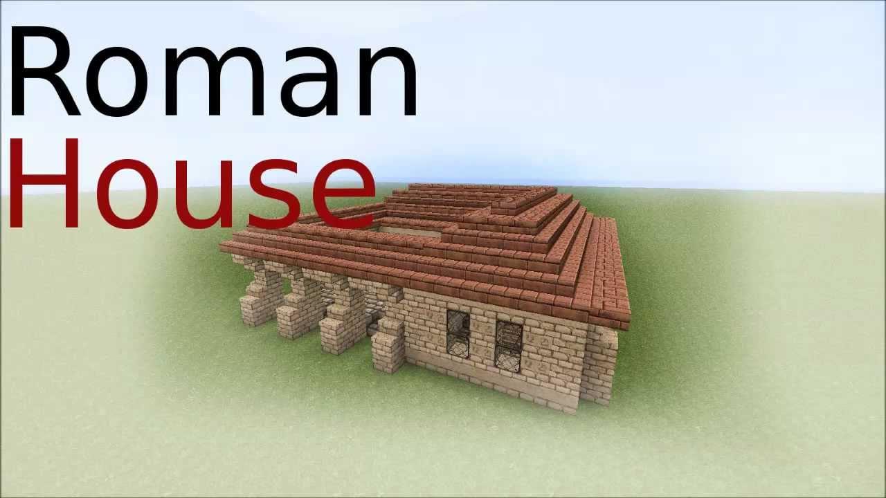 Minecraft Roman House Tutorial Youtube