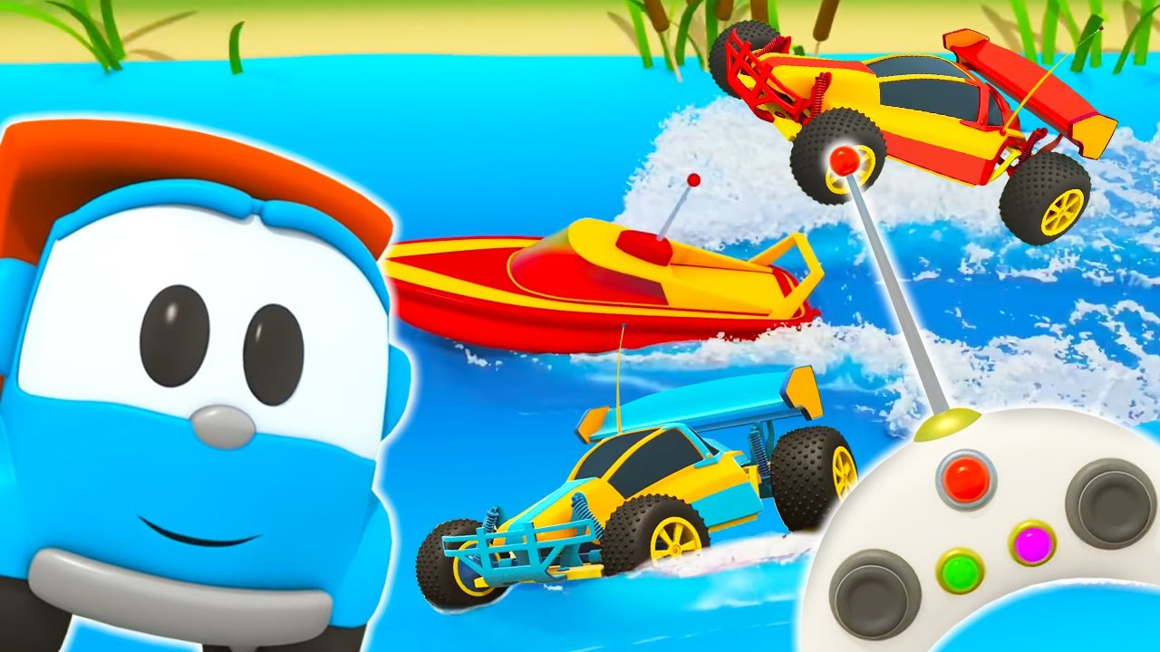 Leo the Truck & the toy boat. Car cartoons for kids & Toy cars for kids.