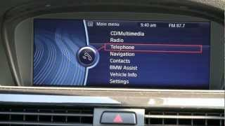 Pairing Your Bluetooth Phone with the BMW iDrive System