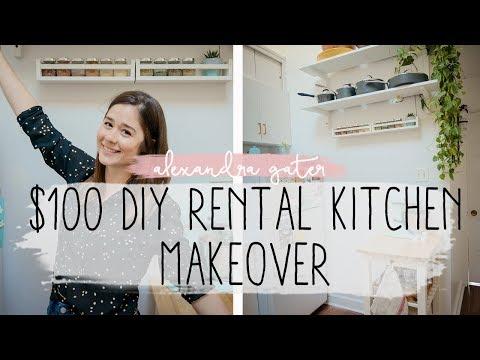 DIY Rental Kitchen Makeover For Under $100 | Ikea Hacks For Small Kitchens