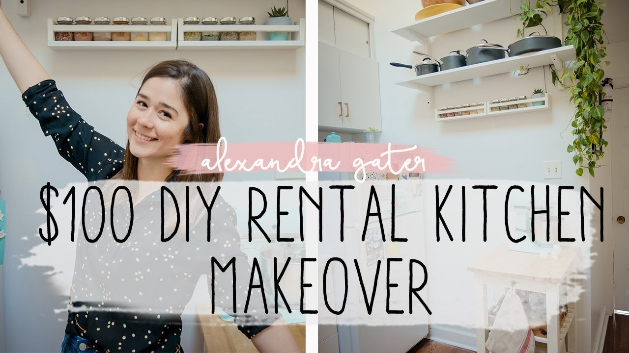 Diy Rental Kitchen Makeover For Under 100 Ikea Hacks For Small Kitchens Youtube