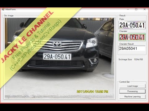 License plate recognition full source code and tutorial - OpenCV3 SVM method