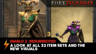 Diablo 2 Resurrected - All 32 Item Sets and their new Visuals