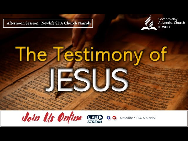 Sabbath Afternoon Worship || The Testimony of Jesus || 16 October 2021