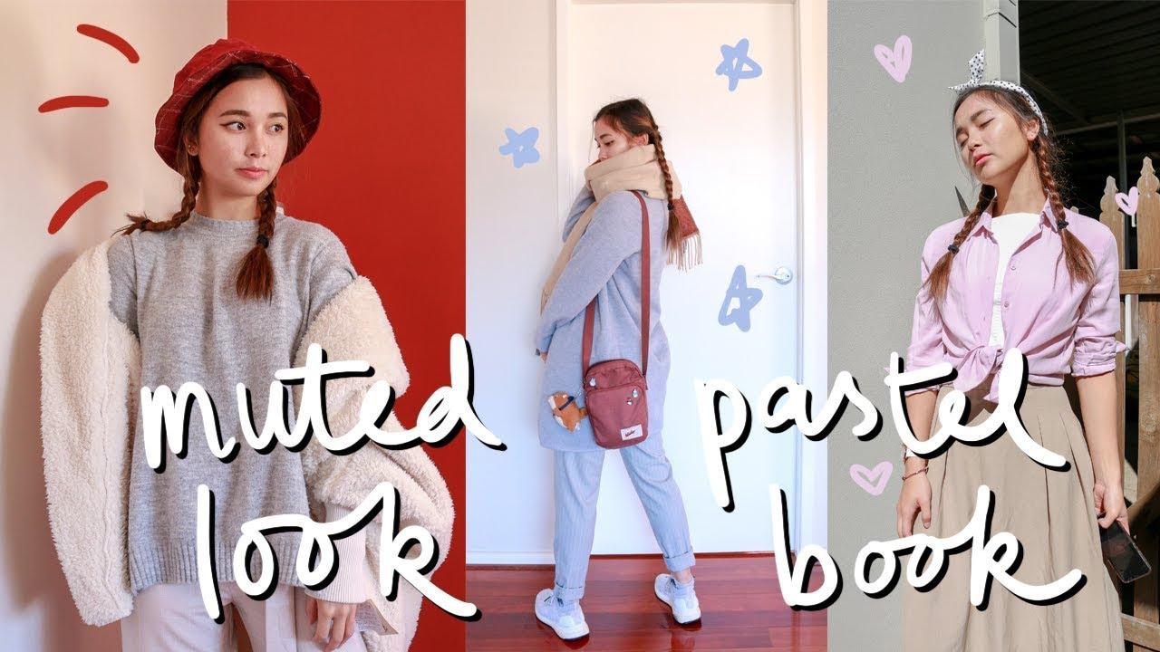 minimalist muted pastel lookbook 🌱 | Fashion lookbook