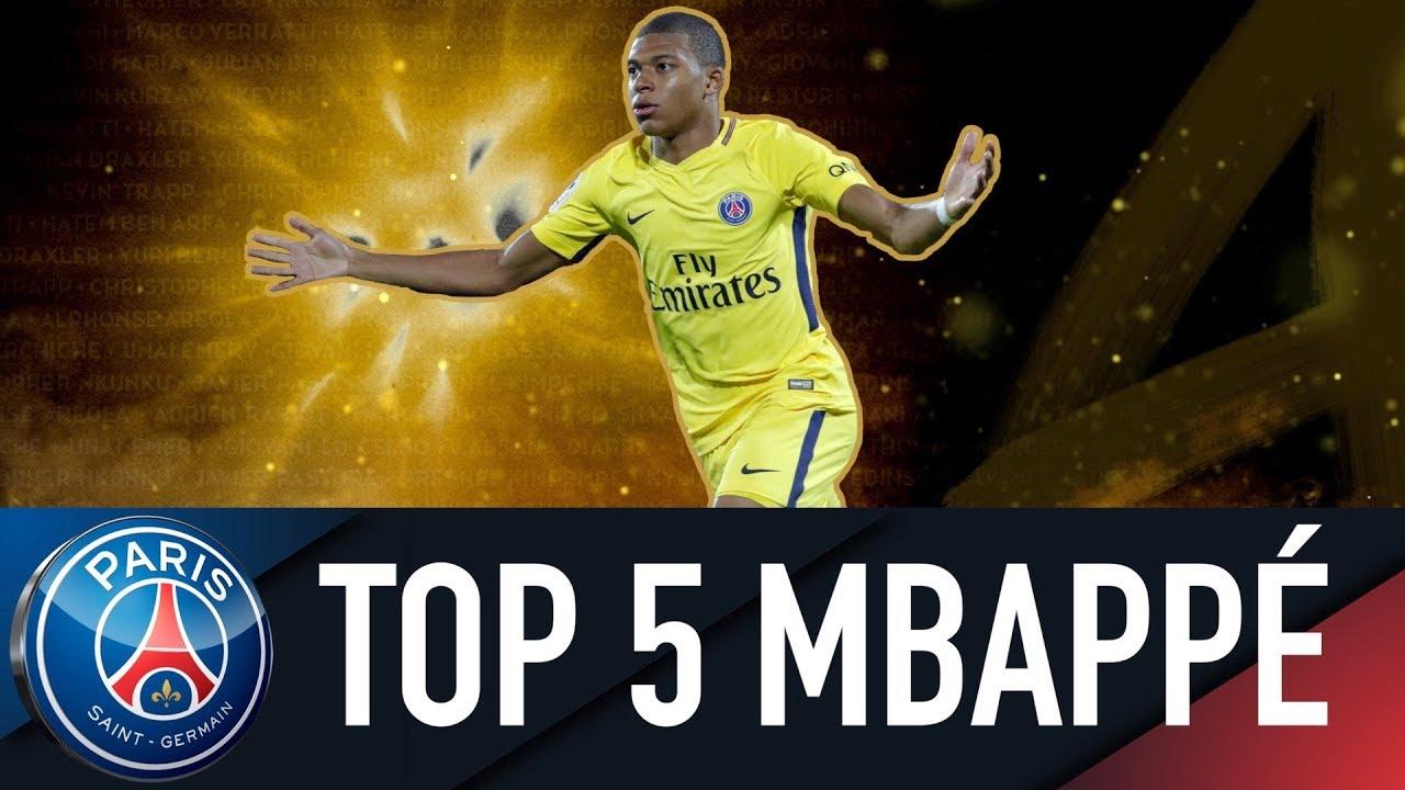 TOP 5 KYLIAN MBAPPÉ : SES 5 PLUS BEAUX BUTS DU QUADRUPLE 2017-2018