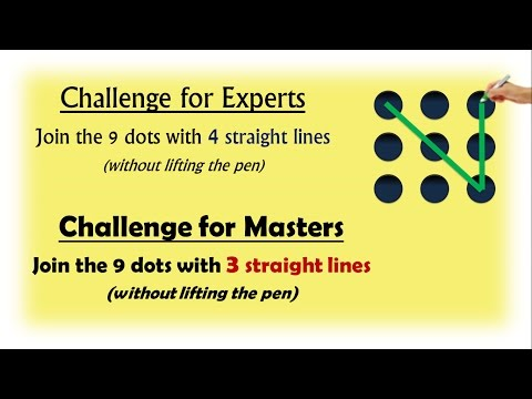 9 Dots Problem | Join With 4 Lines (Experts) | Join With 3 Lines (Masters)