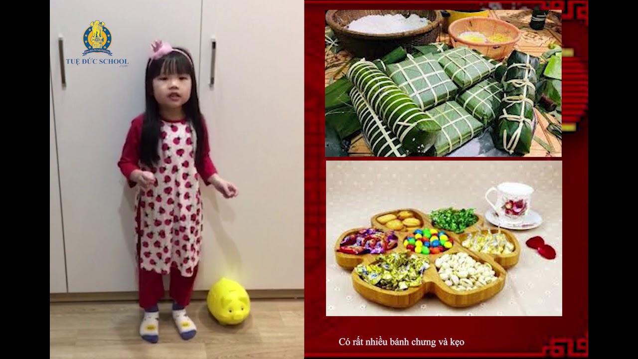 Cô bé lớp 1 nói tiếng Anh như gió, giới thiệu về ngày Tết Việt Nam - YouTube